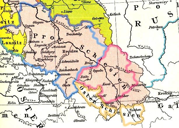 Schlesien Karte Heute.österreichisch Schlesien Flagge In Lexikon Und Shop